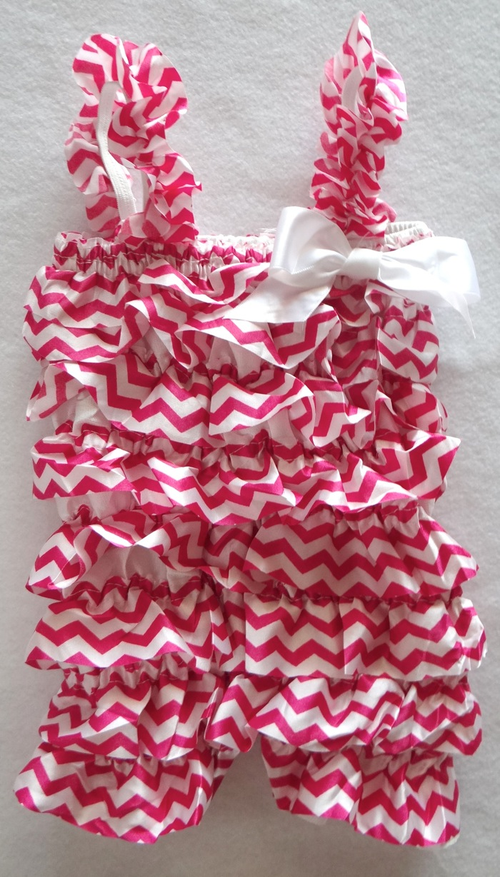 Lil' Filly Chevron Baby Rompers are now at Amazon!